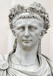 A bust of the Emperor Claudius