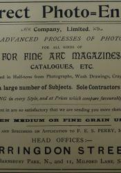 Newspaper ad for Direct Photo-Engraving Company, 1896