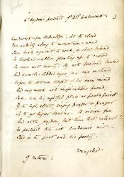 "manuscript of ""On a Portrait of Wordsworth"""