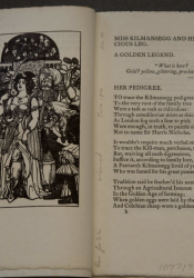 Double-page opening with wood engraving on verso and text on recto