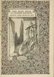 Decorated, wood-engraved title page for The Blue Moon