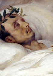 Napoleon on his death bed painting