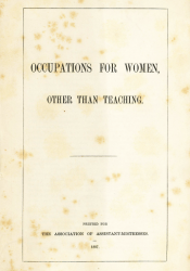 Cover of a pamphlet from 1887