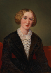 George Eliot, Second Painting by François d'Albert-Durade (circa 1881)