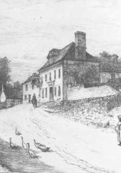 """The Donnithorne Arms,"" etched by R. Swaine Gifford from a painting by F.T. Merrill"