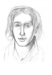 George Eliot, Sketch by Caroline Bray (circa 1842)
