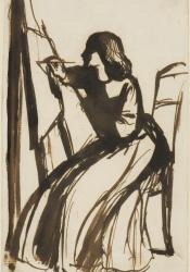 DGR, Elizabeth Siddal Seated at an Easel