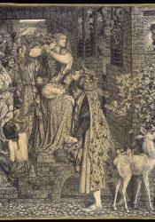 Dante Gabriel Rossetti, Mary Magdalene at the Door of Simon the Pharisee (1858)