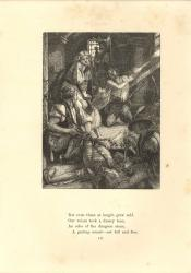 Detailed black-and-white wood engraving of a prisoner's cell with a corpse in foreground