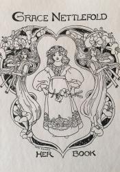 Bookplate for Grace Nettlefold by Celia Levetus