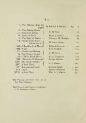 The Yellow Book April 1896 Art Table of Contents