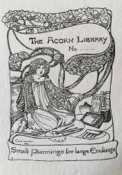 Bookplate for The Acorn Library by Celia Levetus