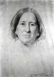 George Eliot, Portrait Study by Samuel Laurence (1860)