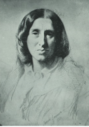 George Eliot, Chalk Drawing by Samuel Laurence (1860)