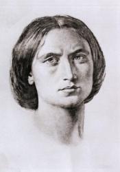 George Eliot, Sketch by Sir Frederic William Burton (1864)