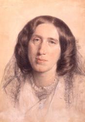 George Eliot, Chalk Drawing by Sir Frederic William Burton (1865)