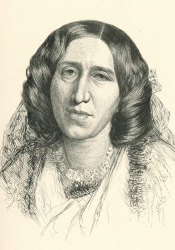 George Eliot, Etching by Paul Adolphe Rajon (1884)