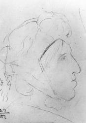 George Eliot, Pencil Sketches by Laura Theresa Alma-Tadema (1877)
