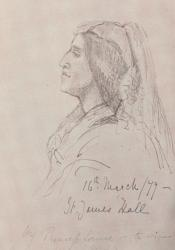 George Eliot, Sketch by Princess Louise (1877)