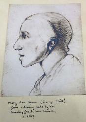 Phrenological Portrait by Sara Hennell (circa 1847)