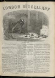 """The King's Victim."" The London Miscellany 12 (28 April 1866), 1"