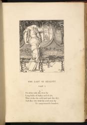 The Lady of Shalott, weaving, Moxon Edition
