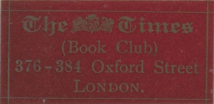 Times Book Club sticker