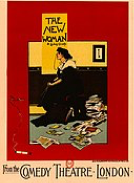 """The New Woman."" Poster design by Albert Morrow, 1894. Public domain, via Wikimedia Commons"