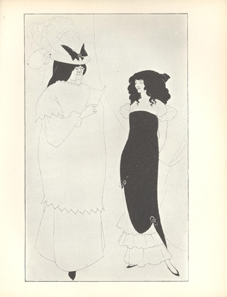 "Aubrey Beardsley, ""L'Education Sentimentale,"" The Yellow Book vol 1, April 1894. Yellow Nineties Online. www.1890s.ca"